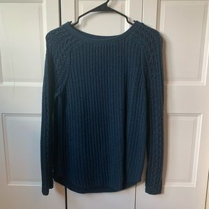 navy cable knit sweater by LOFT